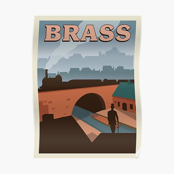 Brass Board Game- Minimalist Travel Poster Style - Gaming Art Poster