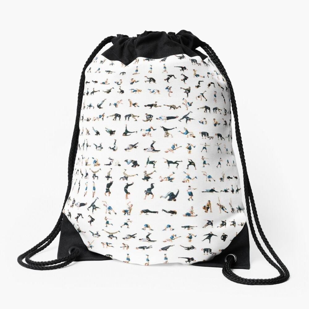 The Bboy/Bgirl moves map Drawstring Bag