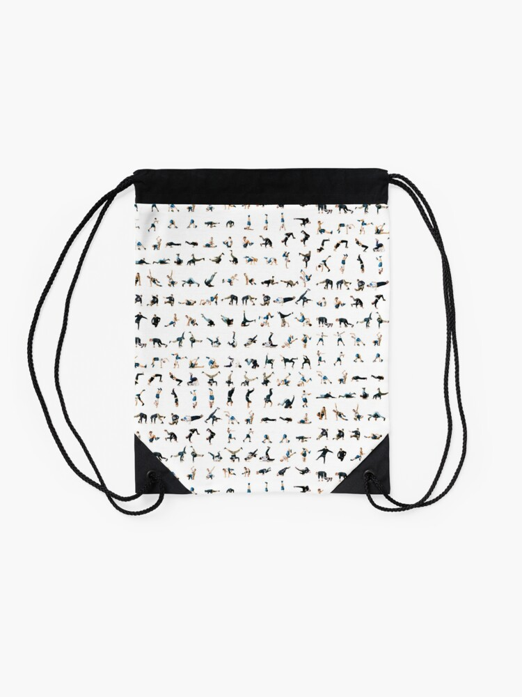 Alternate view of The Bboy/Bgirl moves map Drawstring Bag