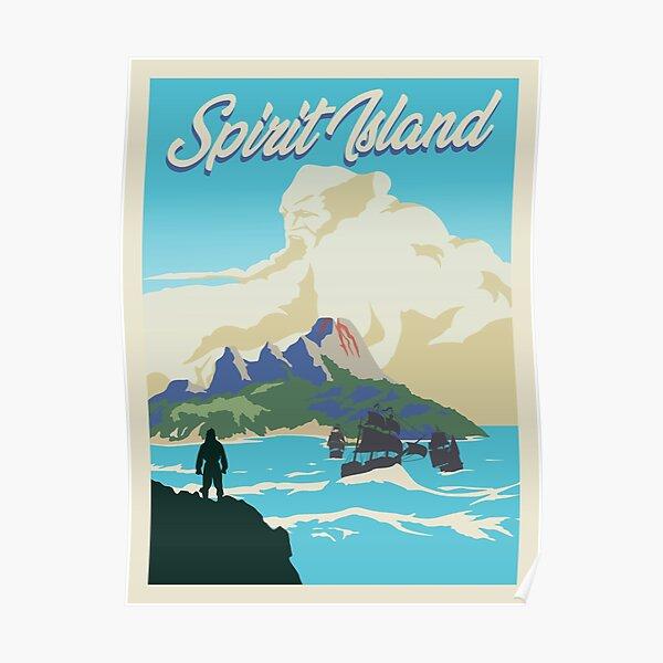 Spirit Island Board Game- Minimalist Travel Poster Style - Gaming Art Poster