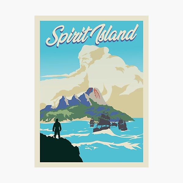 Spirit Island Board Game- Minimalist Travel Poster Style - Gaming Art Photographic Print
