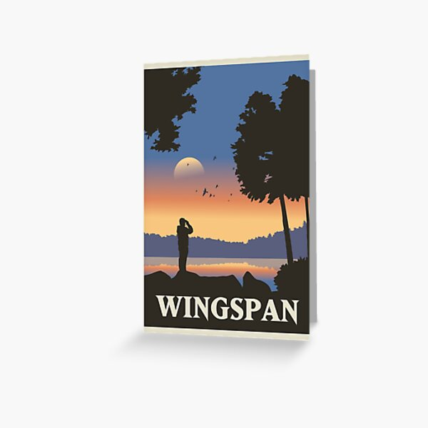 Wingspan Board Game- Minimalist Travel Poster Style - Gaming Art Greeting Card