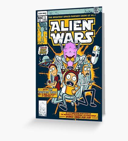 Alien Wars Greeting Card