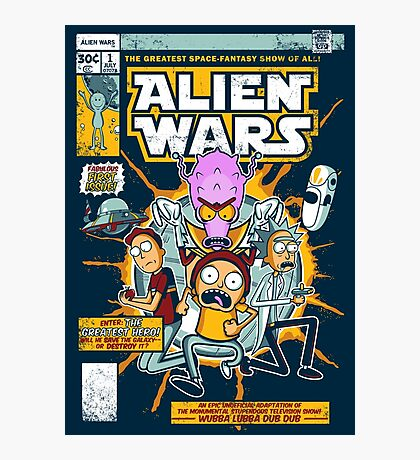 Alien Wars Photographic Print