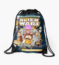 Alien Wars Drawstring Bag