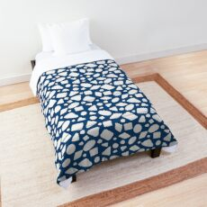 Blue and White geometric shapes Comforter