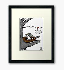 Golf Ball. Framed Print