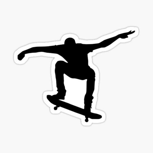 Skate Bild schwarz / weiß Sticker