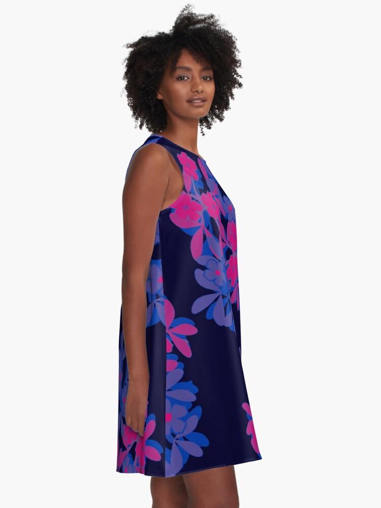 Alternate view of Bi Pride Five-Petal Flower Assortment A-Line Dress