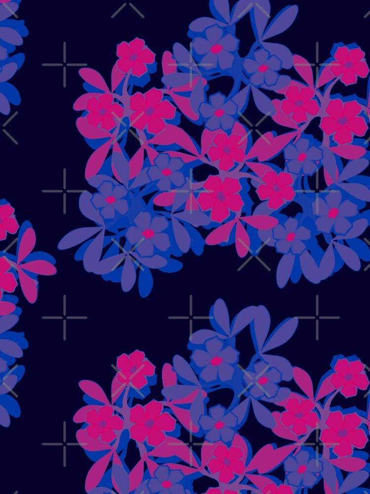 Bi Pride Five-Petal Flower Assortment by gagolddew