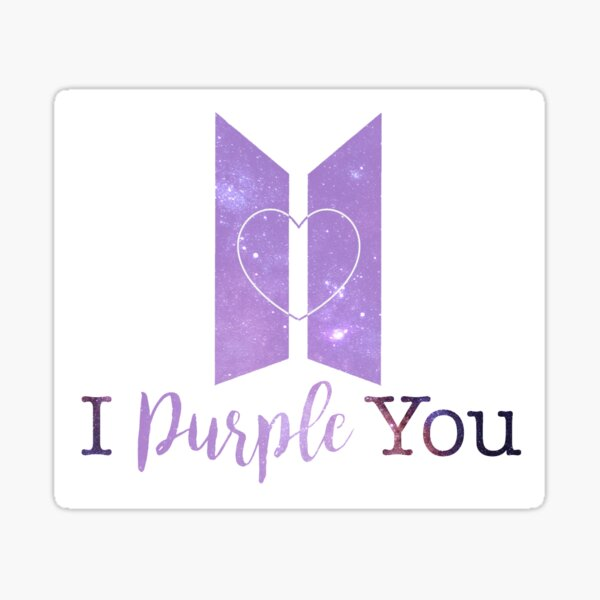 Bts I Purple You Indigo Galaxy Sticker By Fleeglebyrden Redbubble
