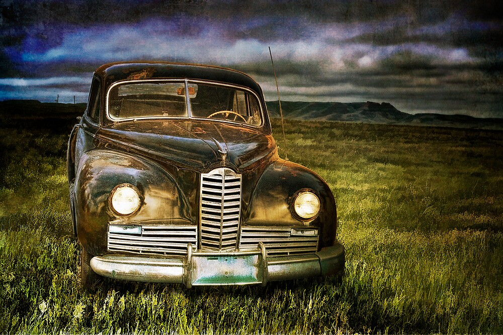 Auto at Dusk by Randall Nyhof