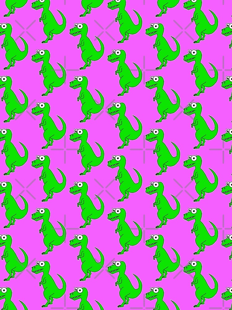 Cute T-Rex - on pink by AdrienneBody