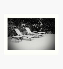 Bed of Snow Art Print