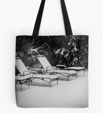 Bed of Snow Tote Bag