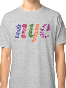 New York City Five Boroughs Typography Classic T-Shirt