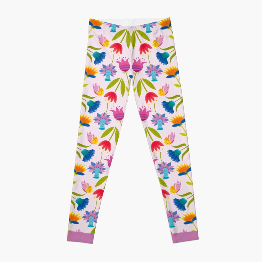 Decorative Tulips Pattern Leggings