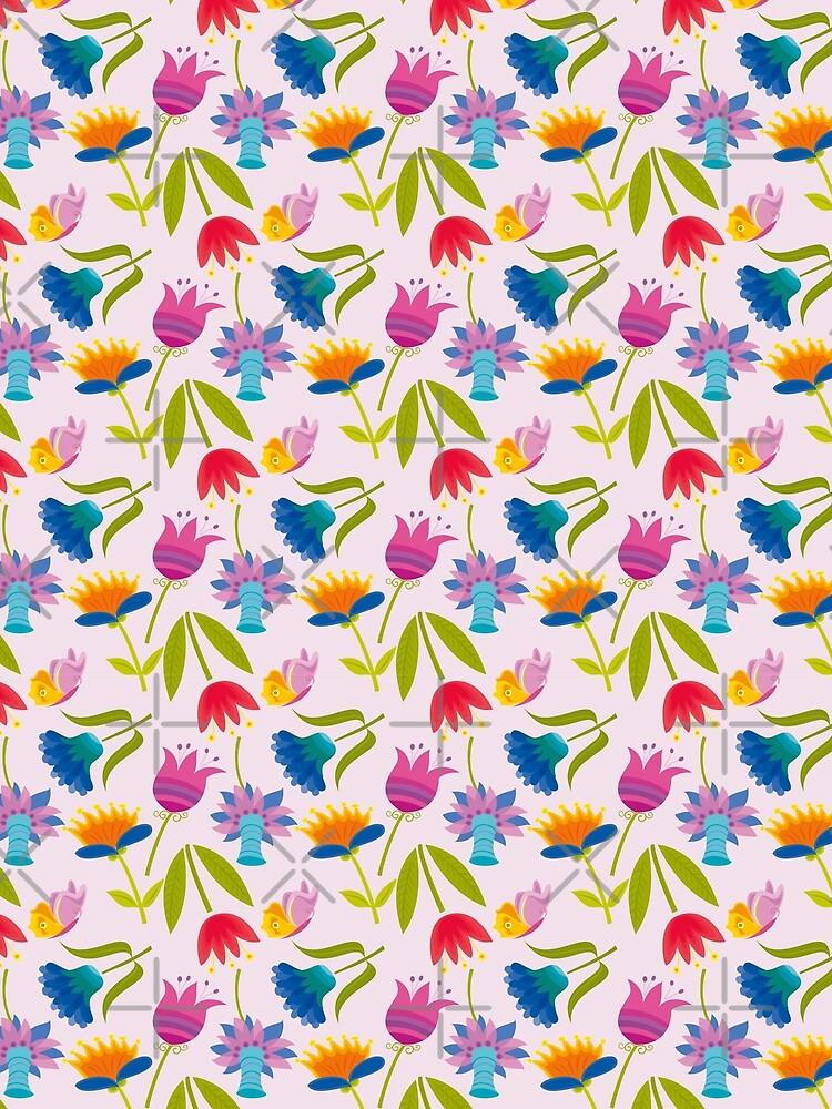 Decorative Tulips Pattern by rusanovska