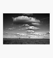 Clouds in the Everglades BW 0009 Photographic Print