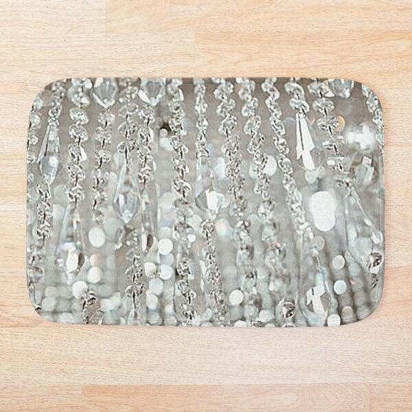Chandelier of Crystals and Light Bath Mat