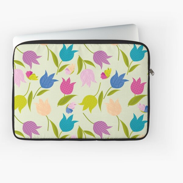 Decorative Tulips Pattern Laptop Sleeve