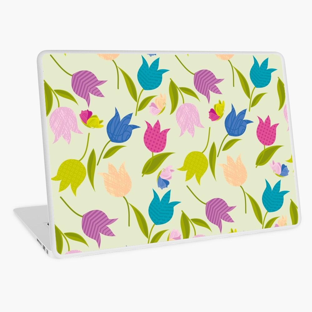 Decorative Tulips Pattern Laptop Skin