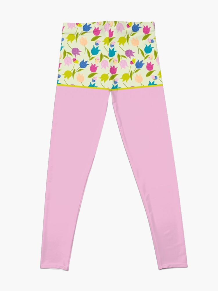 Alternate view of Decorative Tulips Pattern Leggings