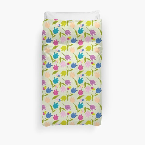 Decorative Tulips Pattern Duvet Cover