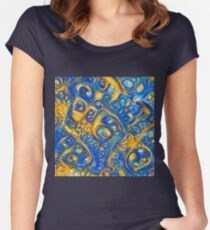 Deep Dream abstraction Fitted Scoop T-Shirt