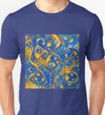 Deep Dream abstraction Slim Fit T-Shirt