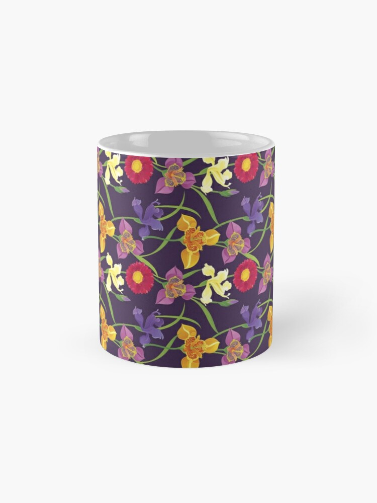 Alternate view of Tigridia, Iris, Daisy Pattern Mug