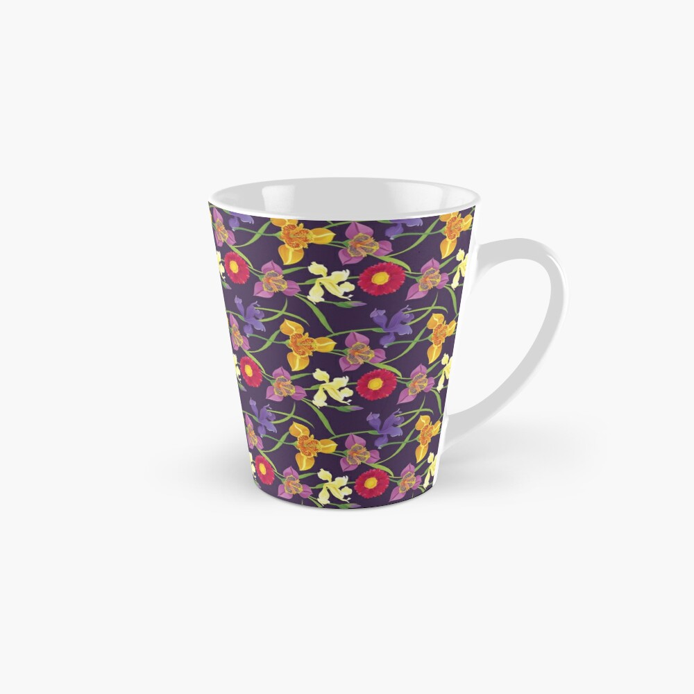 Tigridia, Iris, Daisy Pattern Mug