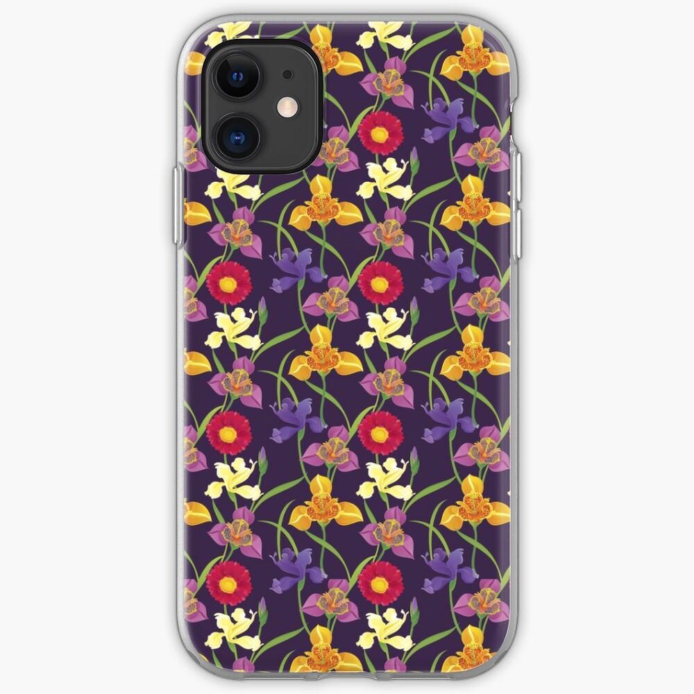 Tigridia, Iris, Daisy Pattern iPhone Case & Cover