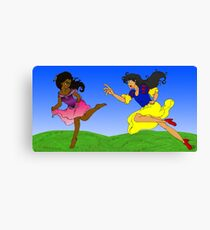 Playful Chase Canvas Print