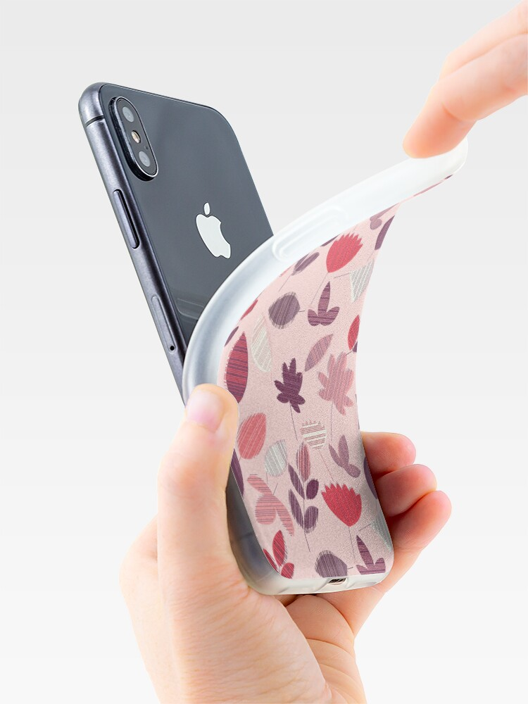 Alternate view of Abstract Pink Florar Pattern  iPhone Case & Cover