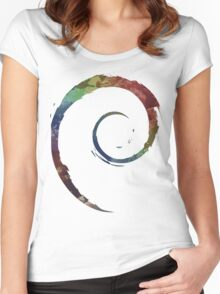 Colorful Debian Women's Fitted Scoop T-Shirt