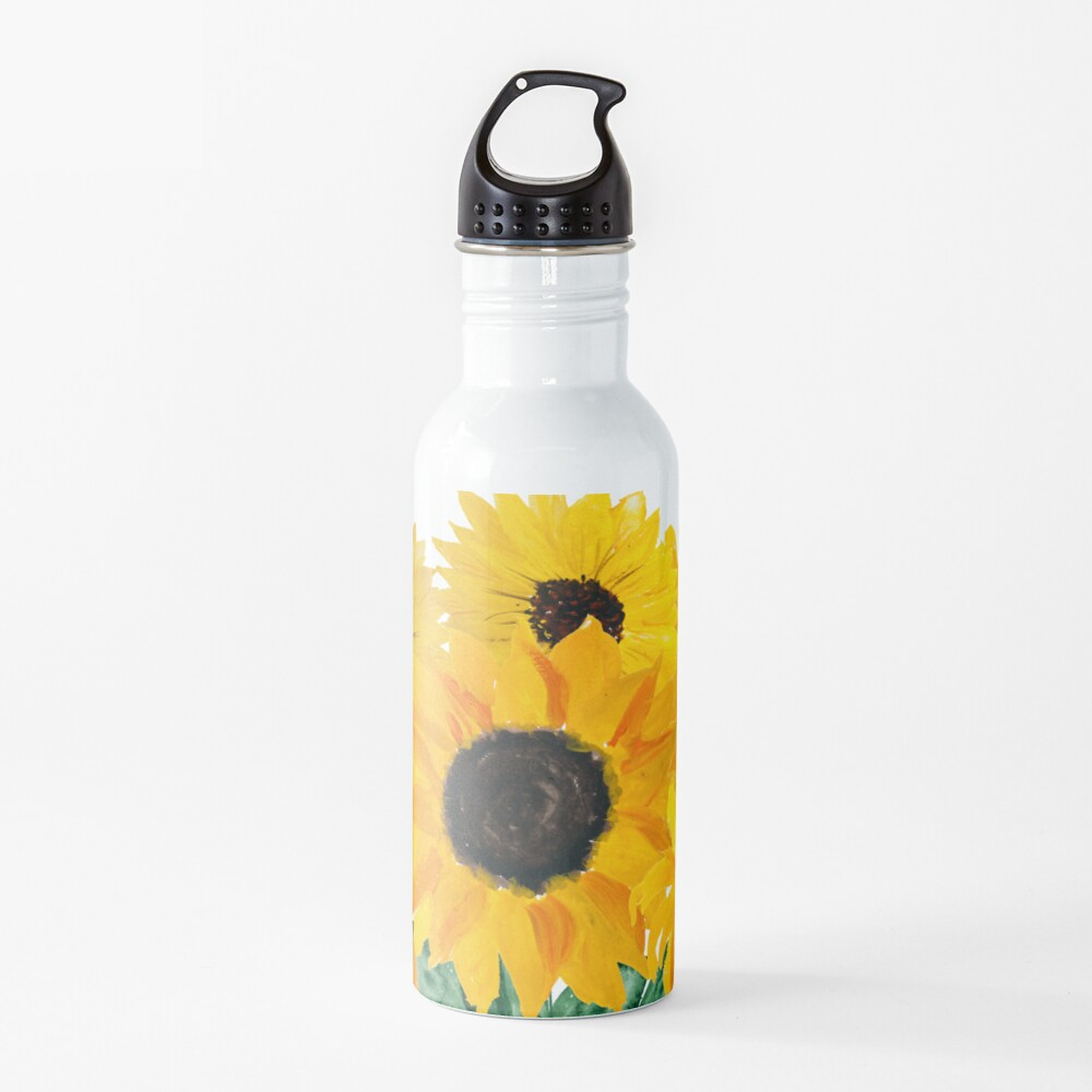 Painted sunflower bouquet Water Bottle