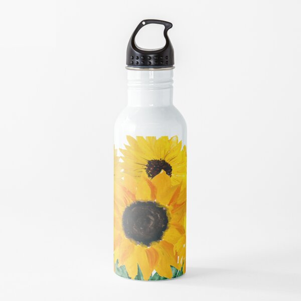 Painted sunflower bouquet Water Bottle