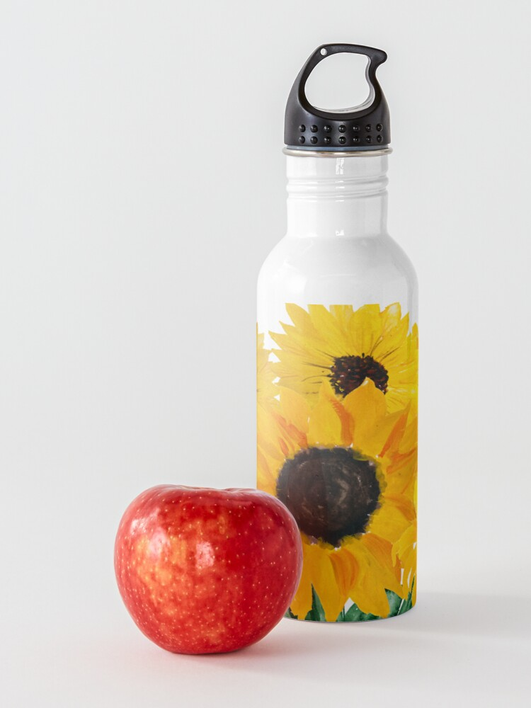 Alternate view of Painted sunflower bouquet Water Bottle