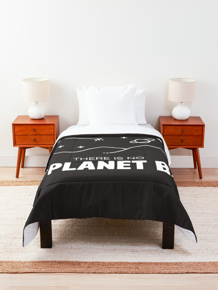 Alternate view of No Planet B - Off White Comforter