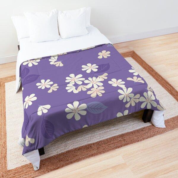 Sakura on purple Comforter