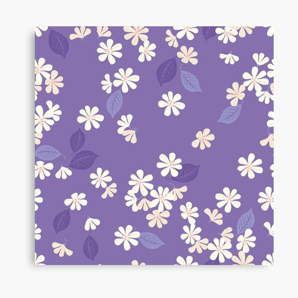 Sakura on purple Canvas Print
