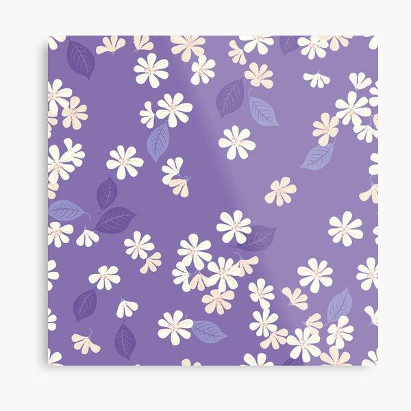 Sakura on purple Metal Print
