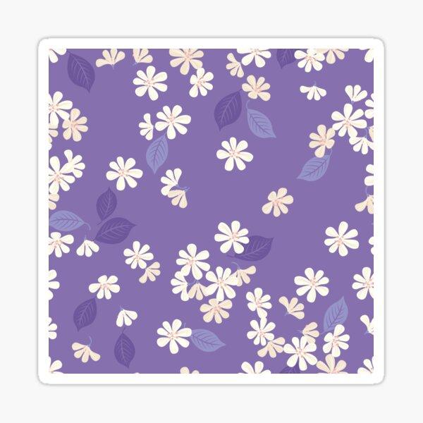 Sakura on purple Glossy Sticker