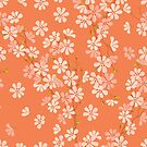 Spring Blossom on Orange by rusanovska