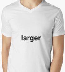 larger Men's V-Neck T-Shirt