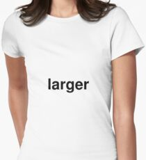 larger Women's Fitted T-Shirt