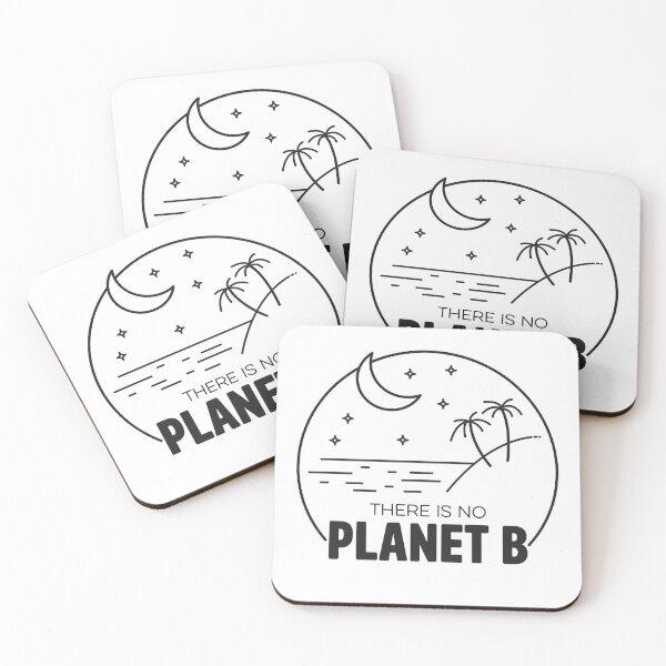 No Plan B - Black Coasters (Set of 4)