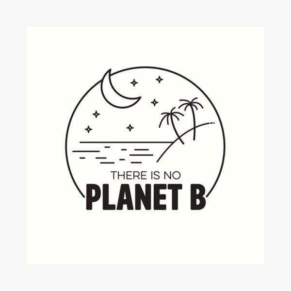 No Plan B - Black Art Print