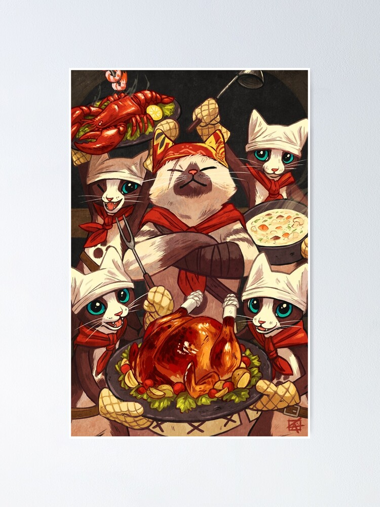 Alternate view of Palico Chefs Poster